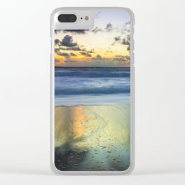 Sea storm approaches Clear iPhone Case