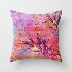 Tropical Pineapple pink abstract illustration art Throw Pillow