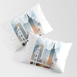 City of San Francisco painting Pillow Sham