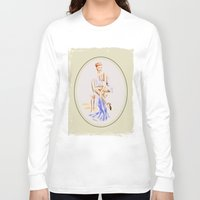 erotic Long Sleeve T-shirts featuring Erotic lady in lingerie - Retrostyle by Marita Zacharias