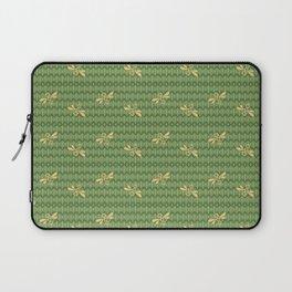 Field of Bees Pattern ~ HONEY GREEN Laptop Sleeve