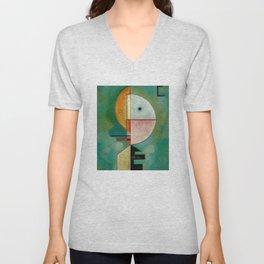 Kandinsky Upward Abstract Art Painting Unisex V-Neck