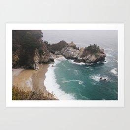 Big Sur Waterfall Art Print