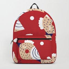 Christmas print Backpack