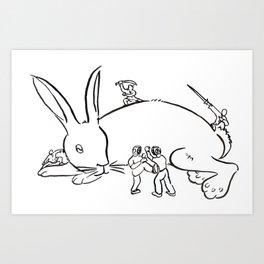 Kuo Shu Rabbit Art Print