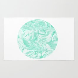 Ryota - spilled ink abstract marble circle trendy must have gift for dorm college student life paint Rug