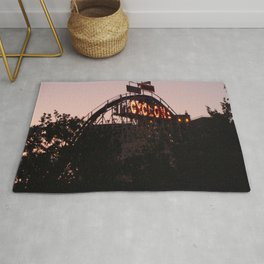 The Cyclone At Dusk NYC Photography Rug