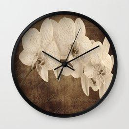 Vintage Flowers Digital Collage  15 Wall Clock