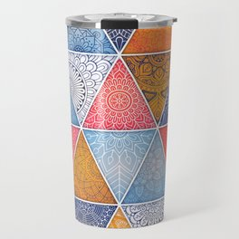 Pattern Mandala Losange Travel Mug