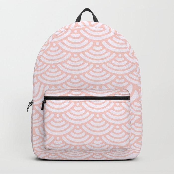 Pink Coral Mermaid Scales Backpack