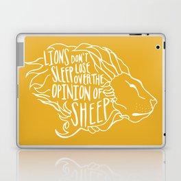Lions don't lose sleep Laptop & iPad Skin