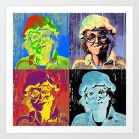 marylin monroe Art Prints featuring Pumpkin woman goes Marylin Monroe by Anki Hoglund