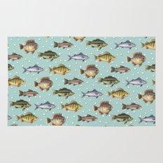 Watercolor Fish Rug