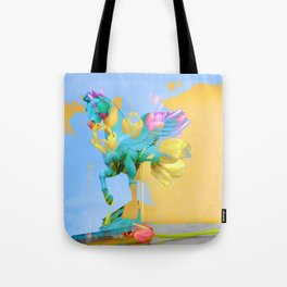The Fly of Angelic Flowers - Digital Mixed Fine Art Tote Bag