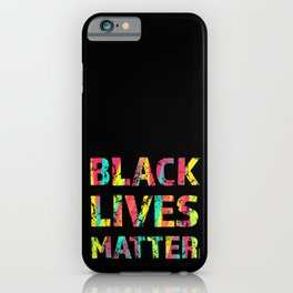 Black Lives Matter Colorful Painting 01 iPhone Case