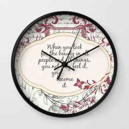 Beauty Quote Wall Clock