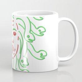Head of Medusa Neon Sign Coffee Mug