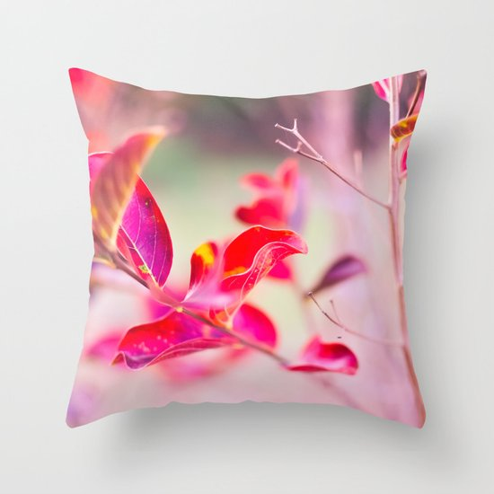 Princess Leaves Throw Pillow