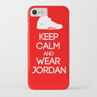 air jordan iPhone & iPod Cases featuring Keep calm and wear Air Jordan V by Yellow Dust