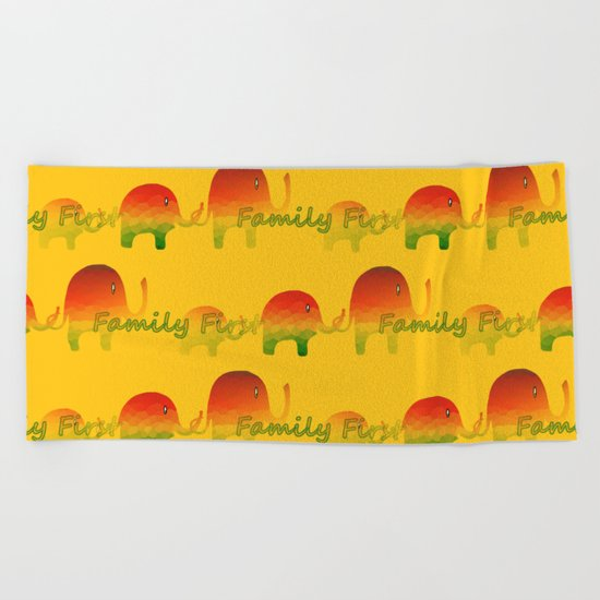 Family First Beach Towel