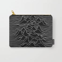 Black and white illustration - sound wave graphic Carry-All Pouch