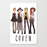 coven Canvas Prints featuring Coven by archibaldart
