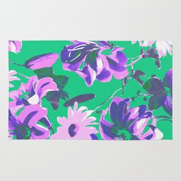 Fashion Textail Floral Print Design, Flower Allover Pattern Rug