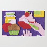 breakfast Area & Throw Rugs featuring Breakfast by Jacopo Rosati
