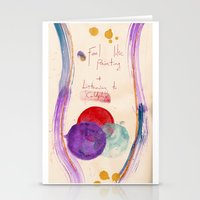 coldplay Stationery Cards featuring Painting & Coldplay by Hector Pahaut