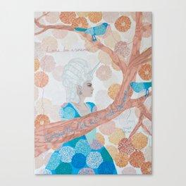 I Was Born A Unicorn Canvas Print