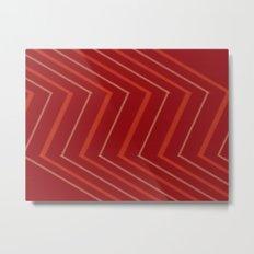 Energy in Red Metal Print