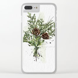 Greens of Christmas Clear iPhone Case