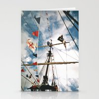 pirate ship Stationery Cards featuring Pirate Ship by For the easily distracted...