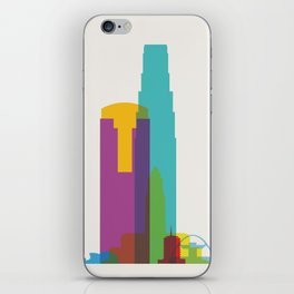 Shapes of Los Angeles accurate to scale iPhone Skin