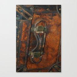 Steam-punk Vintage Steamer-trunk Handle Canvas Print