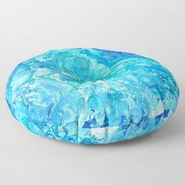 Aqua Ocean Blue Floor Pillow