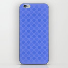 Faded blue circles pattern iPhone Skin