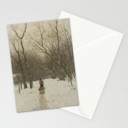 Winter in the Scheveningen Woods - Anton Mauve (1870 - 1888) Stationery Cards