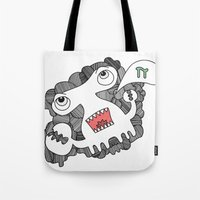 pie Tote Bags featuring Pie! by DoodledPanda