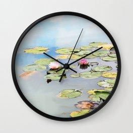 Monet's Garden Wall Clock