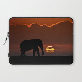 Elephant At Sunset Laptop Sleeve