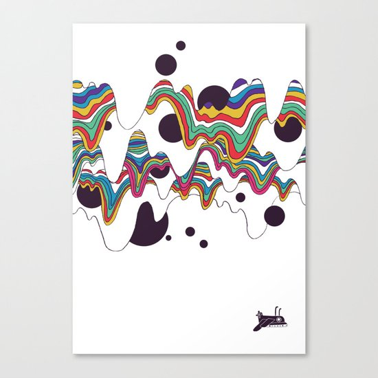 Psychedelic Planet Canvas Print