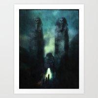 guardians Art Prints featuring ...guardians by Z-GrimV