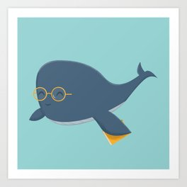Ms. Whale Art Print