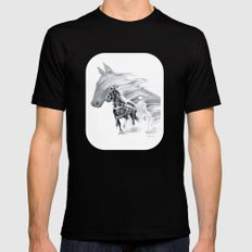 Trotting Up A Storm Mens Fitted Tee Black MEDIUM