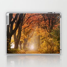 Autumn Fall Forest Path -  Nature Landscape Photography Laptop & iPad Skin