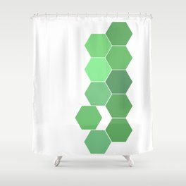 "Hexagon ""die grünen Waben"" Shower Curtain"