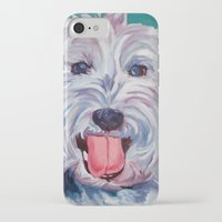 westie iPhone & iPod Cases featuring The Westie Kirby Dog Portrait by Barking Dog Creations Studio