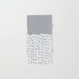 Half Knit Grey Hand & Bath Towel