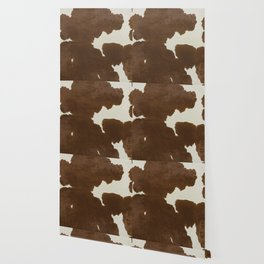 Dark Brown & White Cow Hide Wallpaper